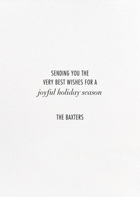 Evoke (Tall Photo) - White/Silver - Kelly Wearstler - Holiday cards - card back