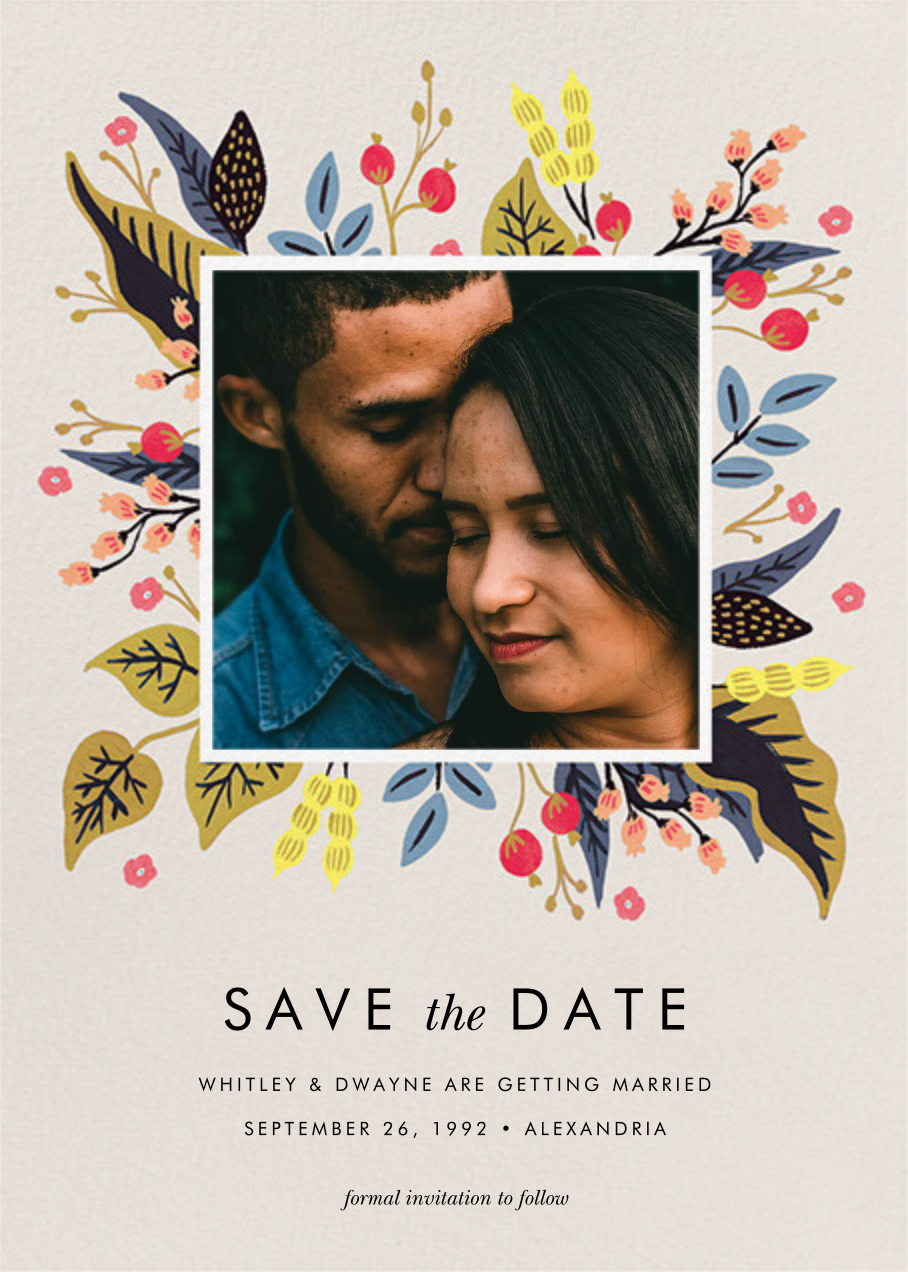 Egret Garden (Photo Save the Date) - Rifle Paper Co.