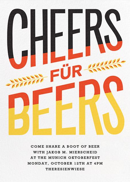 Cheers für Beers - Paperless Post - Oktoberfest
