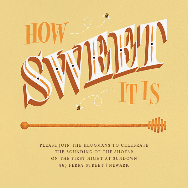 How Sweet It Is (Invitation) - Paperless Post