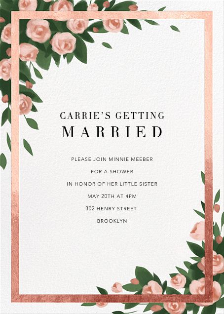 Teablossom (Invitation) - Rose Gold/Pink - Paperless Post - Bridal shower