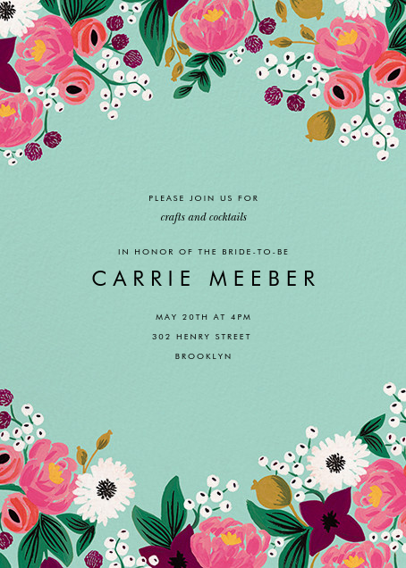 Vintage Blossom (Tall) - Rifle Paper Co. - Bridal shower