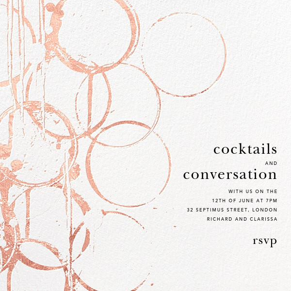 Bottle Shock - White/Rose Gold - Kelly Wearstler - Cocktail party