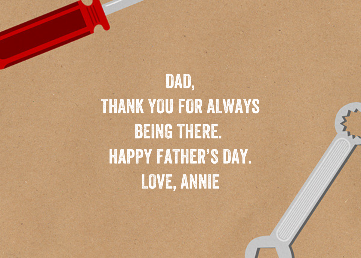 Dad of All Trades - Paperless Post - Father's Day - card back