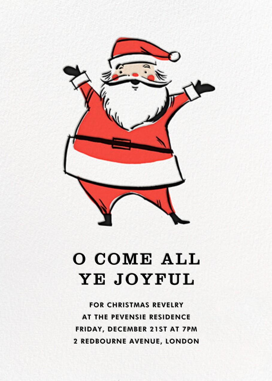 Retro Santa (Invitation) - Fair - Hello!Lucky