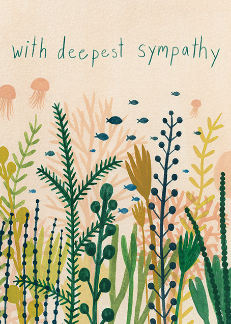 Underwater Sympathy (Kate Pugsley) - Red Cap Cards - Sympathy