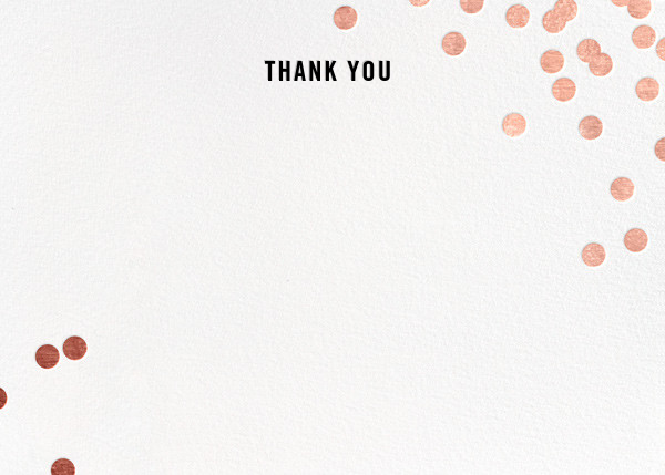 Confetti (Stationery) - White/Rose Gold - kate spade new york - General
