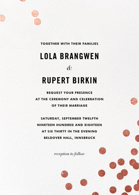 Confetti (Invitation) - White/Rose Gold - kate spade new york - All