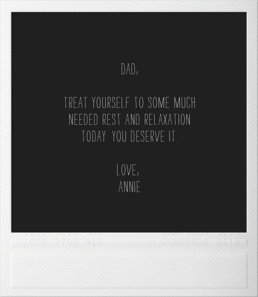 Snapshot - Father's Day - Paperless Post - Father's Day - card back