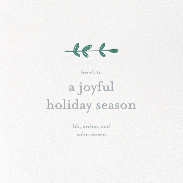 Giving Wreath - Little Cube - Holiday cards - card back