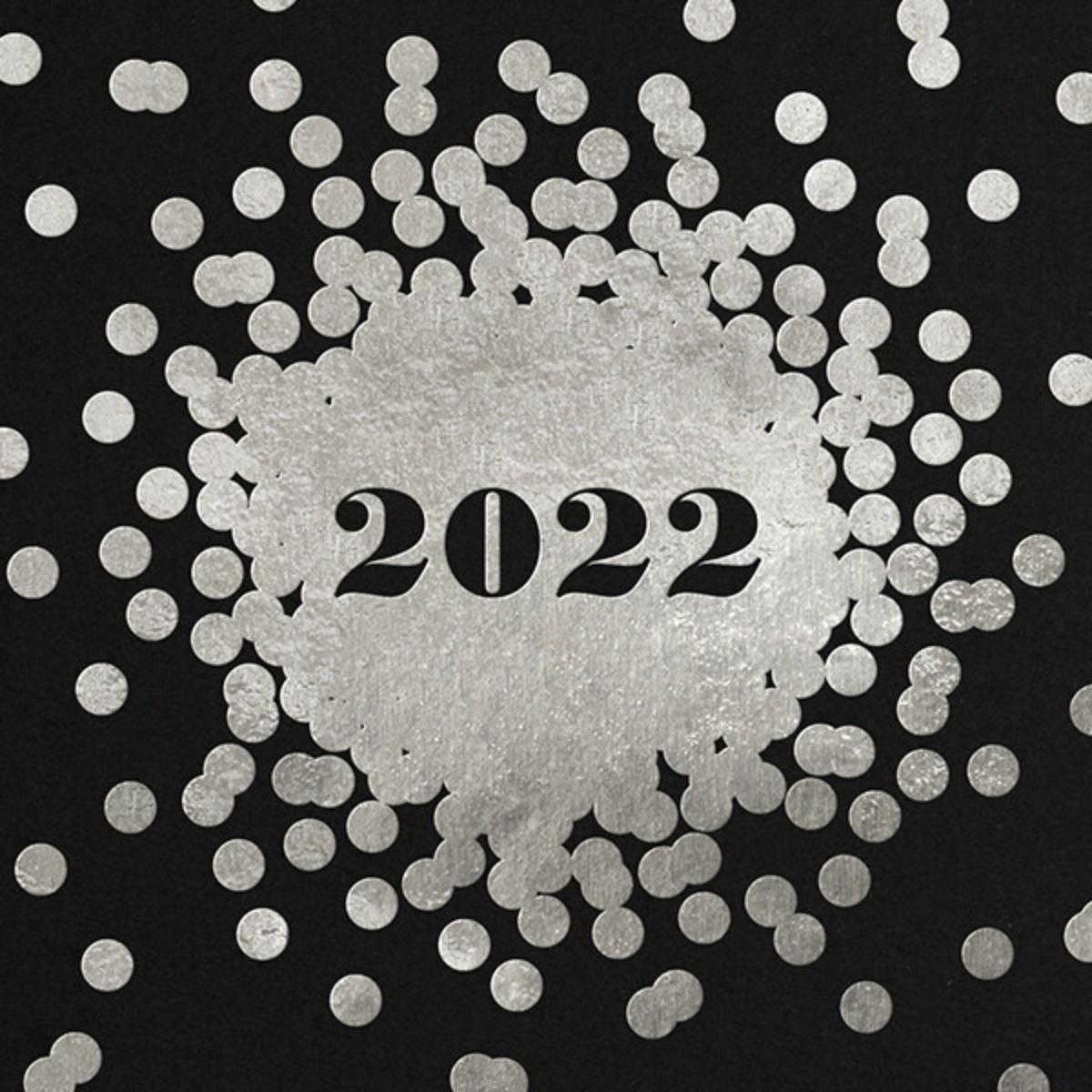 Confetti New Year (Greeting) - Silver/Black - kate spade new york