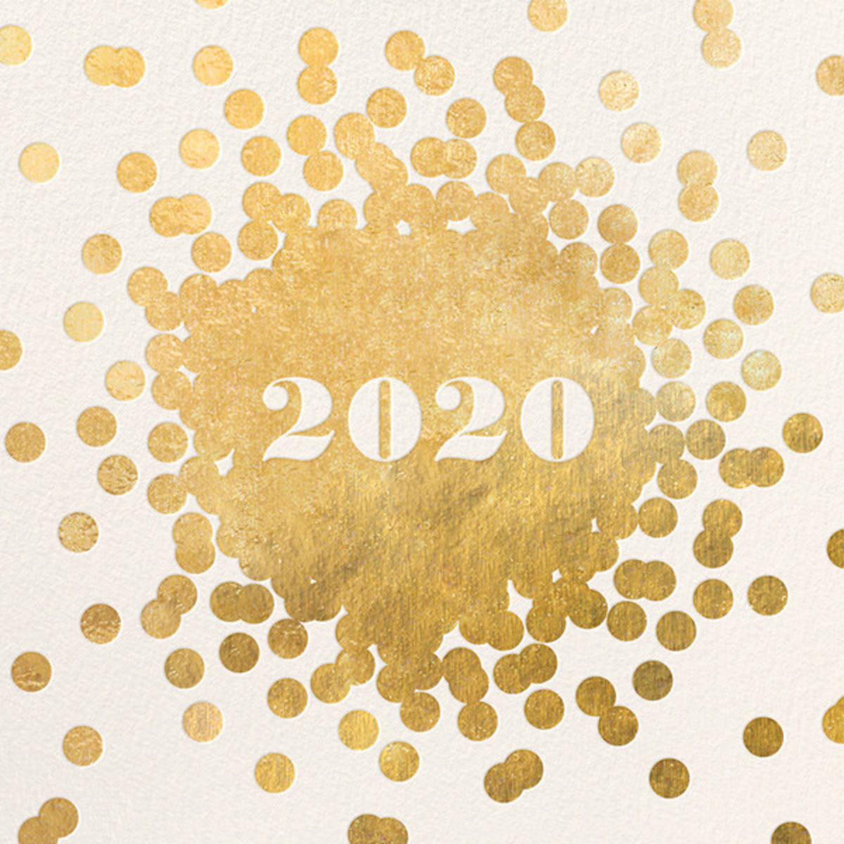 Confetti New Year (Greeting) - Gold/Cream - kate spade new york - New Year