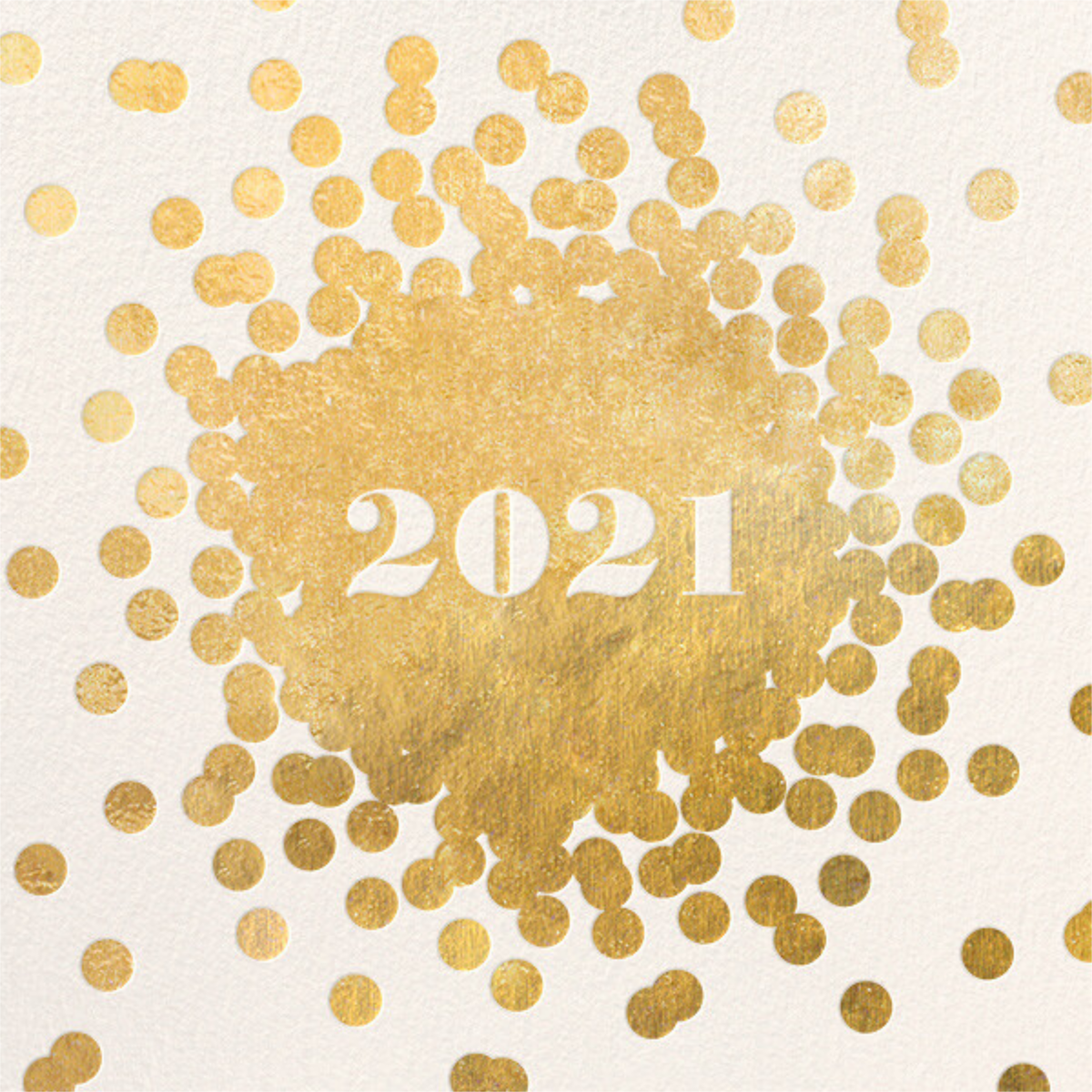 Confetti New Year (Invitation) - Gold/Cream - kate spade new york - New Year's Eve