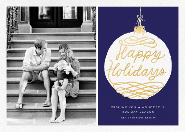 Holiday Ornament (Photo) - Blue - kate spade new york