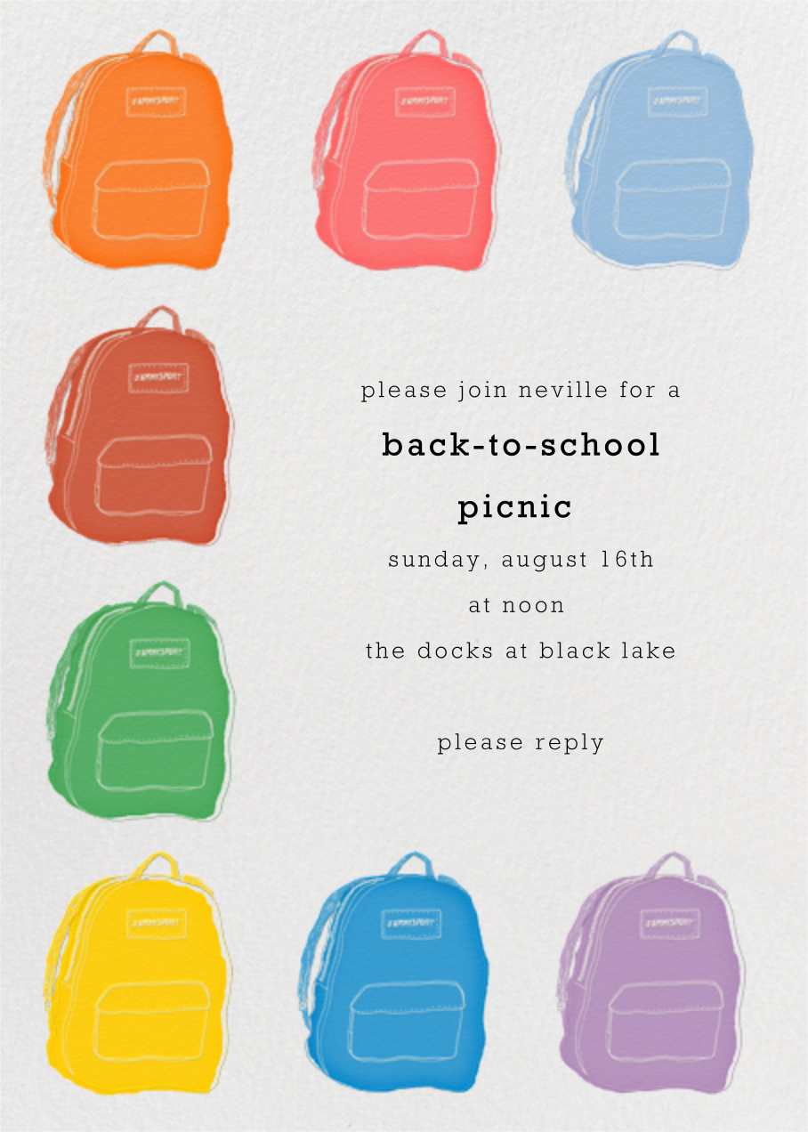 Backpacks - Paperless Post - Back-to-school