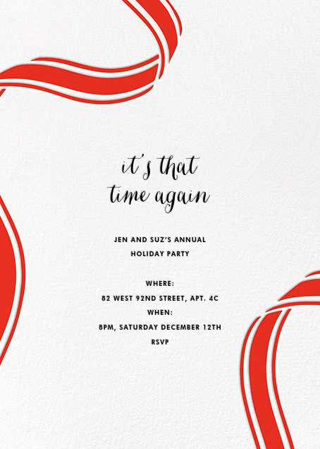 Ellis Hall II (Invitation) - Red - kate spade new york - Christmas party