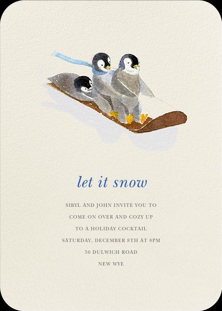 South Pole Sledders (Invitation)  - Felix Doolittle - Winter entertaining