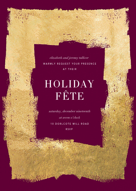 Framework - Merlot/Gold - Kelly Wearstler - Holiday party