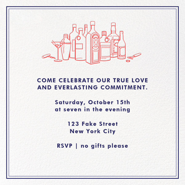 Free Drinks - Derek Blasberg - Theme party - card back