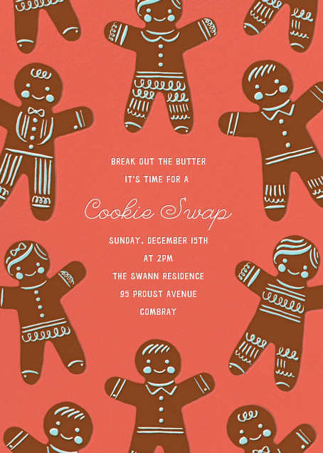 Gingerbread Fam (Invitation) - Hello!Lucky - Christmas party