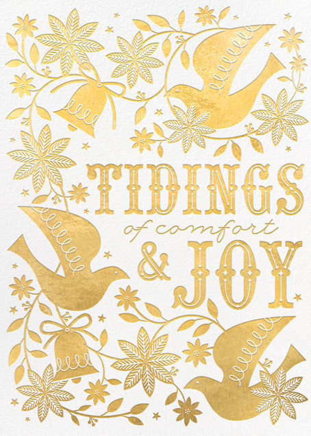 Bells and Boughs - White - Hello!Lucky - Holiday cards