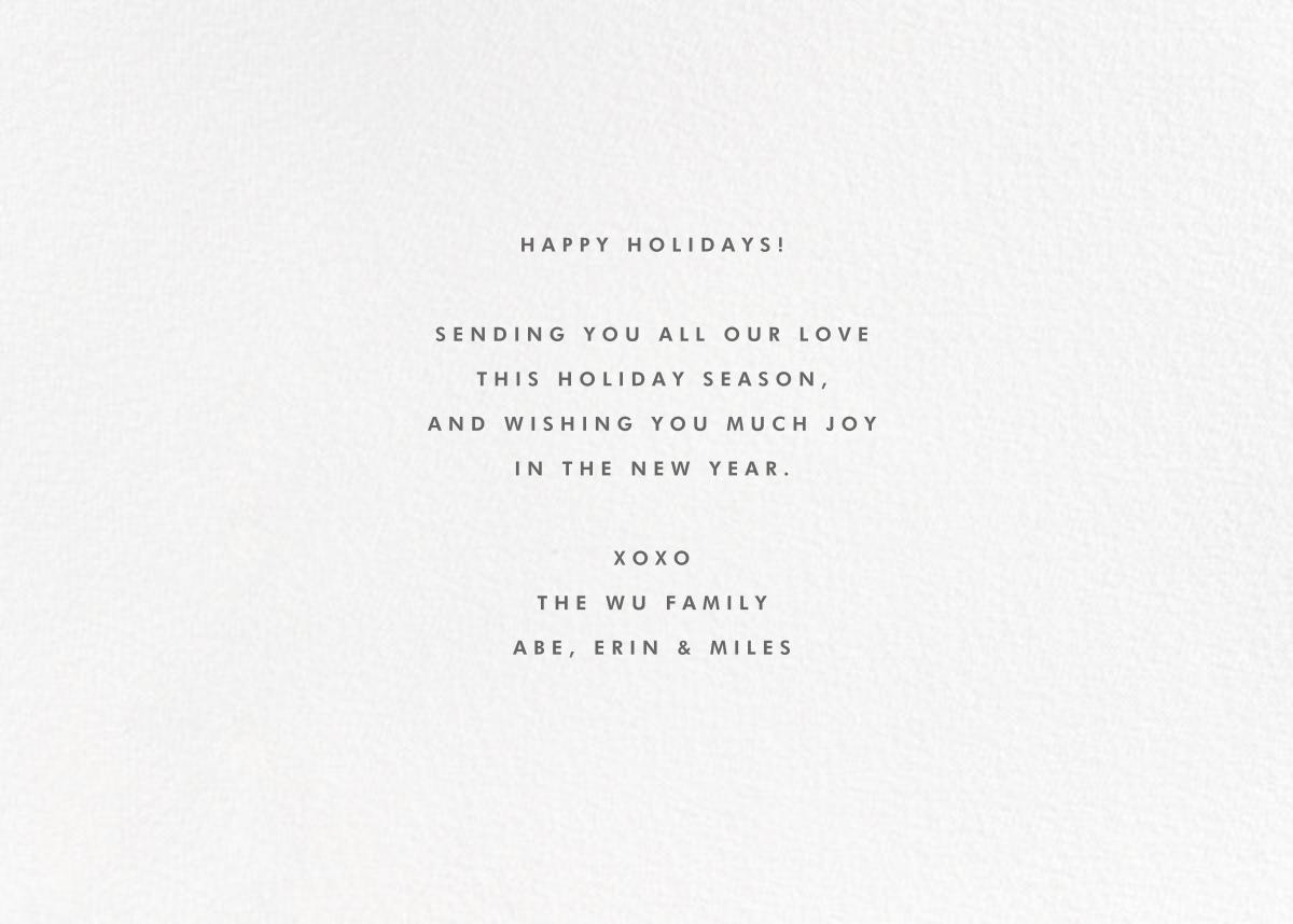 Winter Flakes (Horizontal) - The Indigo Bunting - Holiday cards - card back
