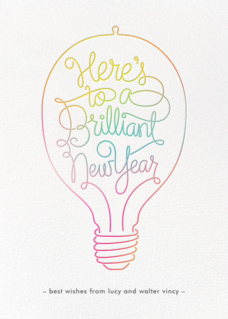 Brilliant New Year - Paperless Post - New Year