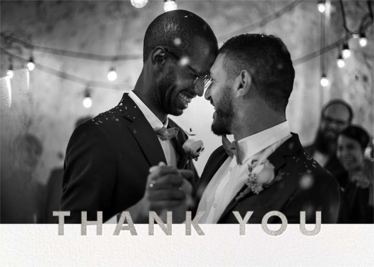 Field of Thanks Photo (Double-Sided) - Silver - Paperless Post