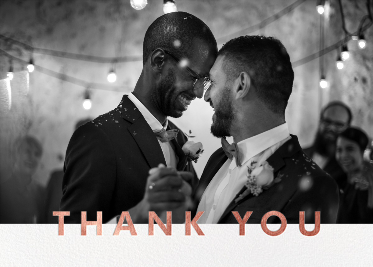 Field of Thanks Photo (Double-Sided) - Rose Gold - Paperless Post