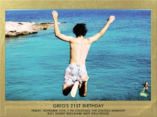 Snapshot Gold - Horizontal - Paperless Post - Adult birthday