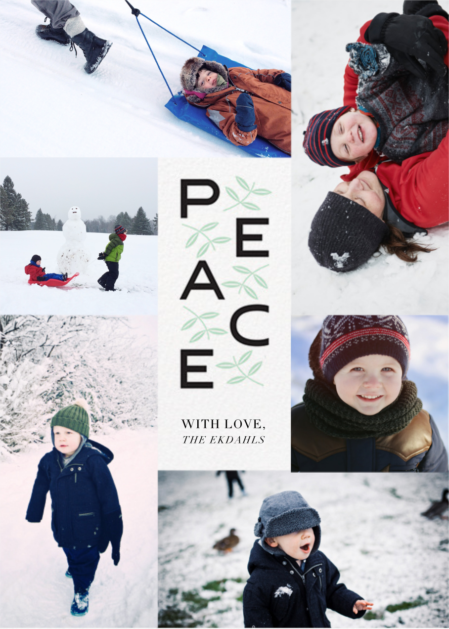 Leaves of Peace (Tall) - Paperless Post