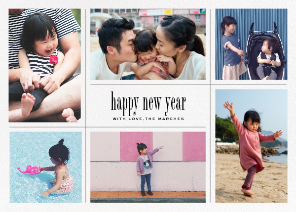 Big Picture New Year (Six-Photo Horizontal) - Paperless Post - New Year