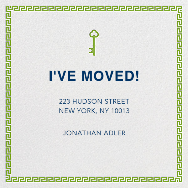 Golden Key - Green - Jonathan Adler - Moving