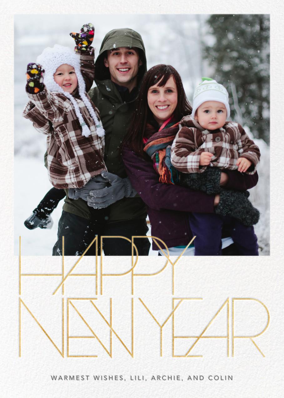 Avant-Garde New Year (Tall) - Paperless Post