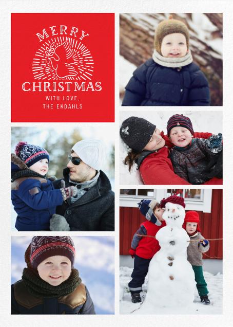 Columba - Red - Paperless Post - Christmas