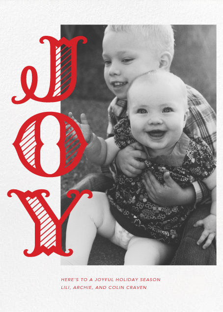 Joyful Stripes (Inset) - Paperless Post