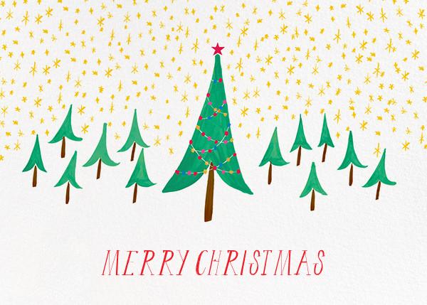 Glittery Tree in the Christmas Forest (Greeting) - Mr. Boddington's Studio - Christmas