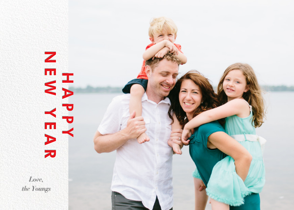 New Year Cutouts (Horizontal Inset) - Red - Paperless Post