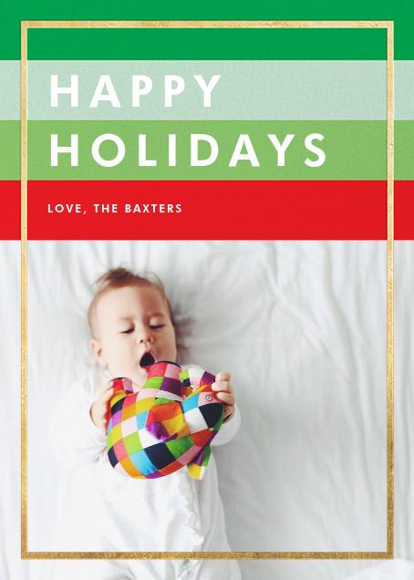 Holiday Hues - Gold - Paperless Post