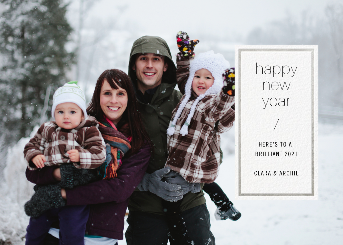 Solidus - White/Silver - Paperless Post - New Year