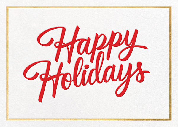 Signature Holiday - Gold - Paperless Post - Holiday cards