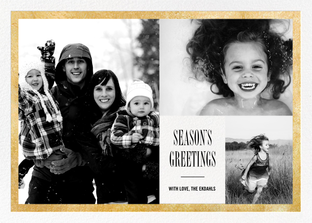 Bordure - White/Gold - Paperless Post - Holiday cards