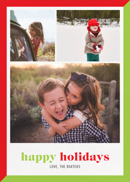 Two-Tone Holiday (Multi-Photo) - Paperless Post