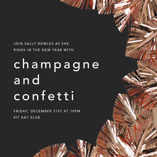 Shimmer - Caviar/Copper - CONFETTISYSTEM - Winter parties