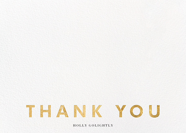 Field of Thanks (Stationery) - White/Gold - Paperless Post - Wedding