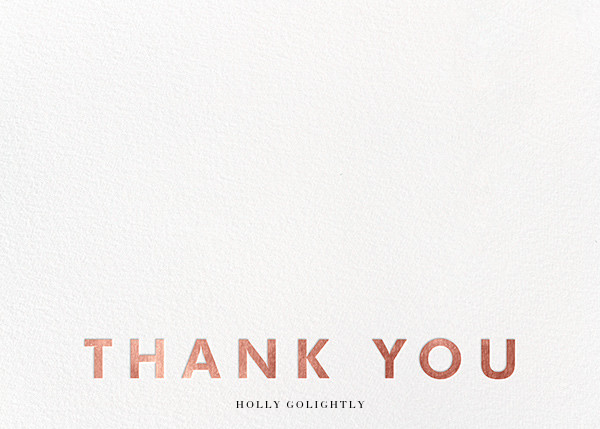 Field of Thanks (Stationery) - White/Rose Gold - Paperless Post - Wedding