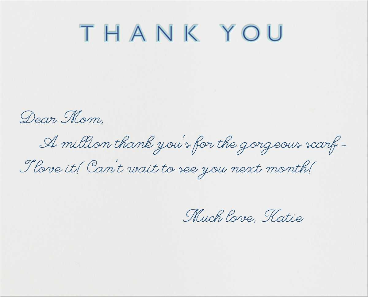 Double Thank You (Blue with Navy) - Paperless Post - null