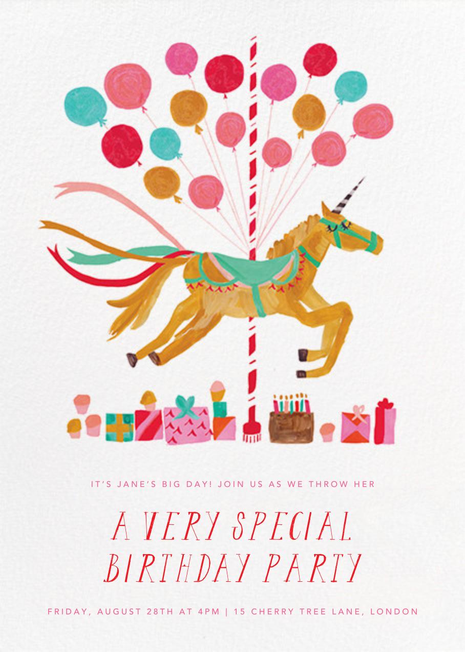 The Unicorn's Big Day - Mr. Boddington's Studio - Kids' birthday