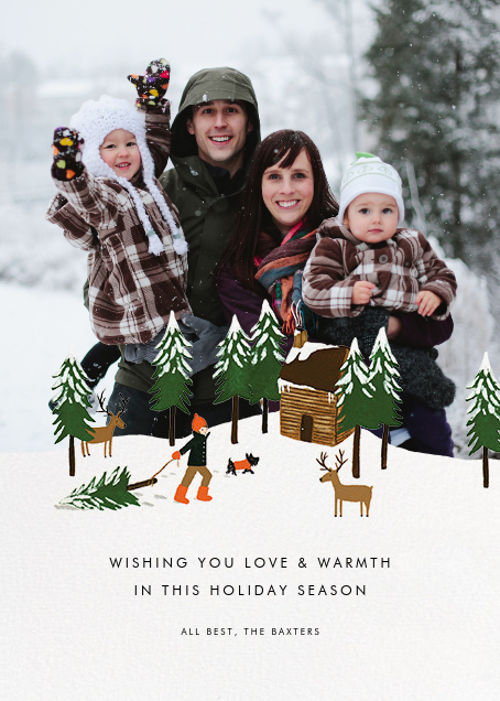 Christmas Cabin (Square Photo) - Fair - Rifle Paper Co. - Holiday cards