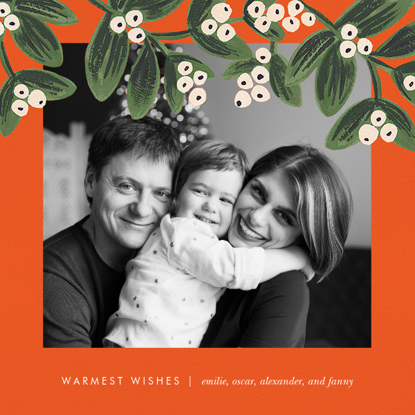 Mistletoe Accent Frame (Square Photo) - Rifle Paper Co. - Holiday cards